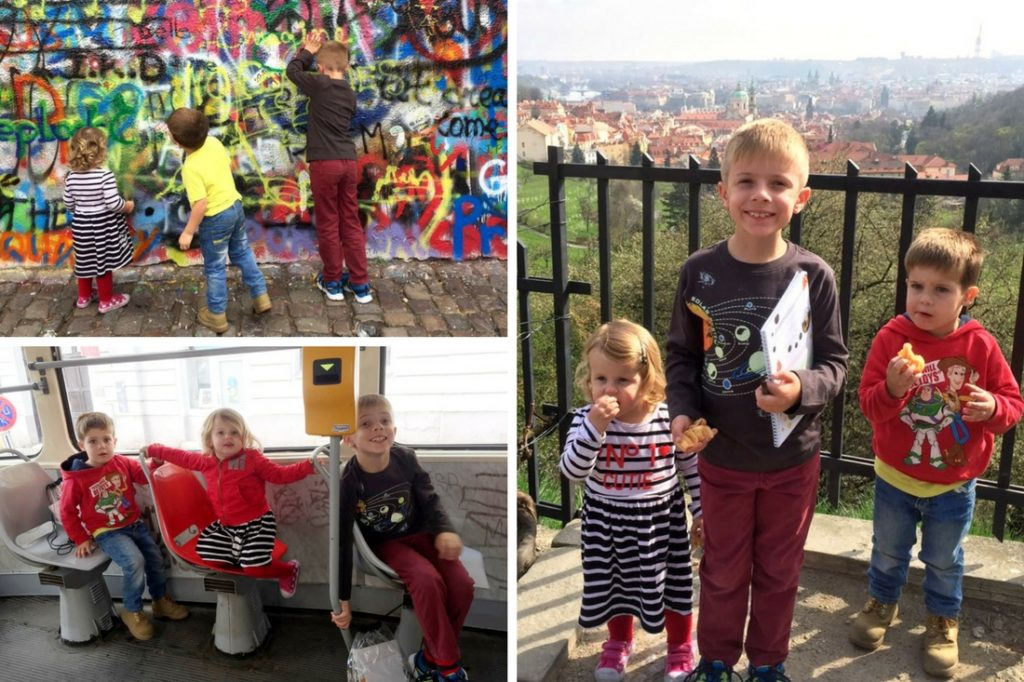 Clair and Kieren from Abu Dhabi visited Prague in April 2017 with Amber (3), Aiden (5) and Callum (7).